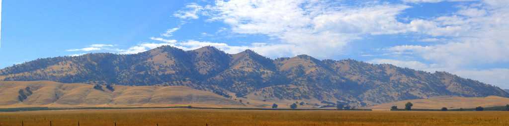 Central California Desert. We headed east from Redwoods National Forest toward Lake Tahoe. This was taken on that drive.
